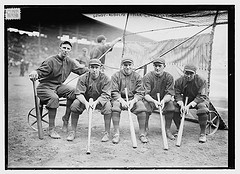 [Hank Gowdy, Dick Rudolph, Lefty Tyler, Joey Connolly, Oscar Dugey (baseball)]