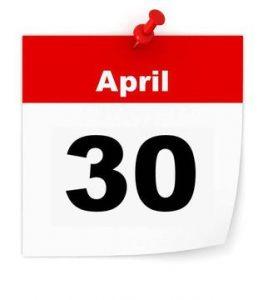 April 30 Calendar