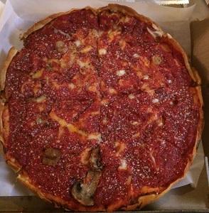 little bit pregnant pizza